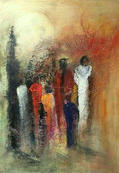 Handmade Oil Painting On Canvas Abstract Painting Krishna Modern Art P – cauliflowerral Abstract Metal Wall Art, Abstract City, Abstract Line Art, Abstract Portrait, Abstract Canvas, Oil Painting On Canvas, Canvas Art, Moon Painting, Black Abstract