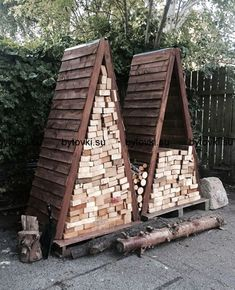 Awesome 51 Pretty Diy Outdoor Firewood Storage Design Ideas To Have Right Now Outdoor Firewood Rack, Firewood Holder, Firewood Storage, Wood Store, Small Sheds, Storage Design, Storage Ideas, Storage Solutions, Wood Burning Fires