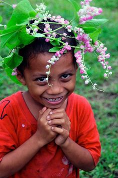 when I'm young, I'll wear flowers - that I picked myself - in my hair