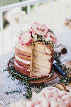 Champagne raspberry curd sponge cake.