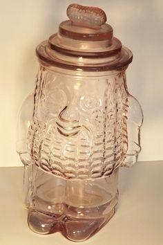 Mr Peanut Pink Depression Cookie Jar Vintage by MyLadida1 on Etsy