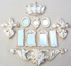 Mini Espelhos Ouro Provençal