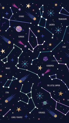 Constellations Wallpaper Phone – Night Sky Stars – Zodiac Signs – Astrological Signs – My Pin Page Space Phone Wallpaper, Planets Wallpaper, Aesthetic Iphone Wallpaper, Galaxy Wallpaper, Screen Wallpaper, Cool Wallpaper, Aesthetic Wallpapers, Aztec Wallpaper, Pink Wallpaper