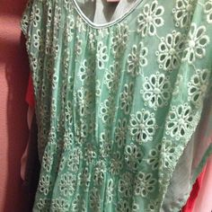 For Sale: Mint Green Mesh shirt  for $4