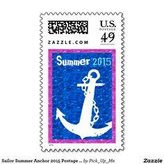 Sailor Summer Anchor 2015 Postage Stamps