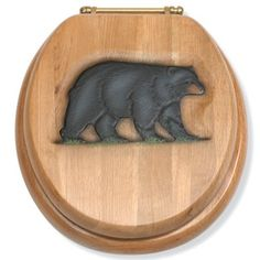 Shop for bear and moose toilet seats made from wood - Black Forest Decor Forest Decor, Woodland Decor, Woodland Room, Country Decor, Rustic Decor, Cabana, Black Bear Decor, Moose Decor, Log Cabin Living