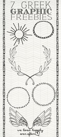 Toga / Goddess of love etc Greek Inspired Graphic Freebies