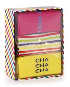 kate spade new york Socks Holiday Box Set, 3 Pack | Bloomingdale's
