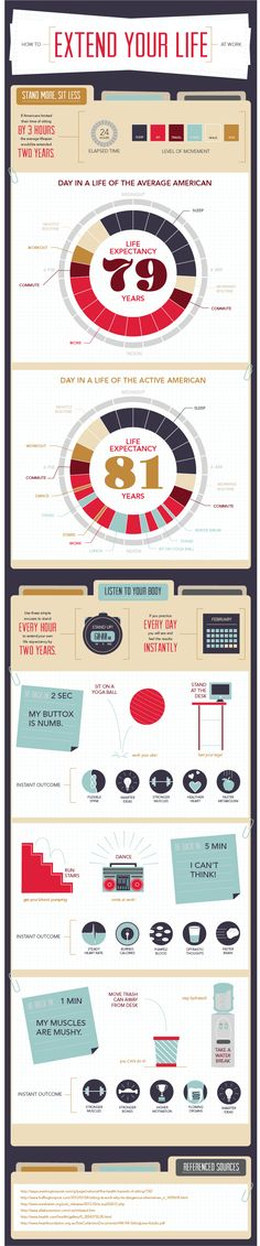 HOW TO EXTEND YOUR LIFE http://dailyinfographic.com/wp-content/uploads/2014/05/HowtoExtendYourLifeatWork-1.png