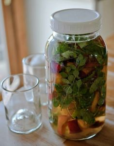Peach and Herb Infused Water | 23 Refreshing Summer Drinks That Will Help You Kick Your Soda Habit