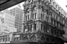 Melbourne Town Hall Chambers at the corner ofSwanston and Little Collins,Melbourne,Victoria in 1968.