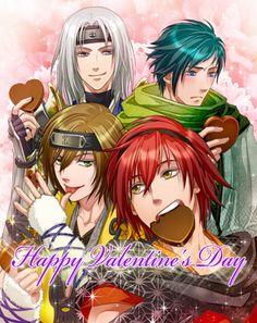Happy valentines day from destiny ninja Enya, hyosuke, kazemasa, and hyuga