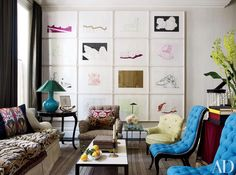 Discover the work of Jeffrey Bilhuber through this revamped brownstone in Manhattan