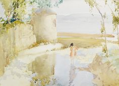 Sir William Russell Flint    The eel fisher.