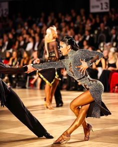 Nice, sassy pose. Great lines! Fun dress! #latindance #dancesport #dance