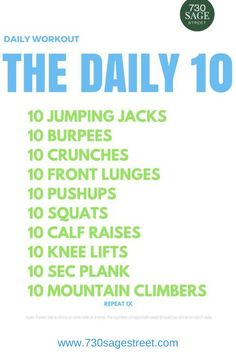 Daily Workout Routine Without Equipment at Home