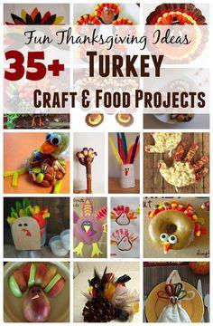 Thanksgiving Turkey Food and Craft Ideas