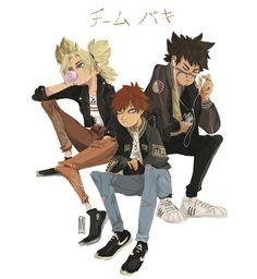 ✨ Casual Ninjas ✨ - Marine Vernhes Anime Naruto, Naruto Sasuke Sakura, Naruto Funny, Naruto Shippuden Anime, Otaku Anime, Anime Manga, Neji E Tenten, Boruto, Shikatema