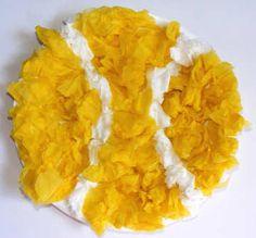 Tissue paper tennis ball