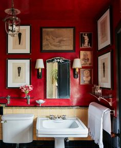 "Polubienia: 8,946, komentarze: 64 – ELLE DECOR (@elledecor) na Instagramie: ""Red walls done to perfection. 