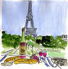 Wine Eiffel Pique-nique