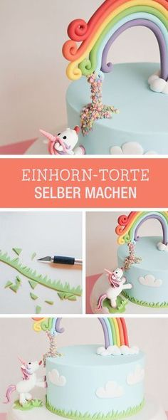 DIY-Anleitung: Kuchenfans aufgepasst, witzige Einhorntorte selbst machen / DIY tutorial: for cake lovers, making funny unicorn pie via DaWanda.com
