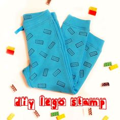 DIY Funny Lego Stamps Decor On Your Kid's Clothes | Kidsomania Fun craft project to make with the boys-  Lego stamped pajamas