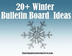 It snowed today, so I though I'd better pin our winter bulletin board round up!
