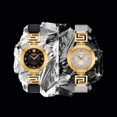 Style your look with the new bold #Versace V-Signature watch. #VersaceWatches