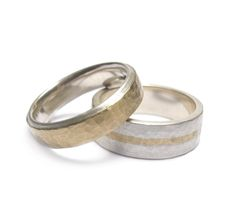 Justin Duance silver and gold rings