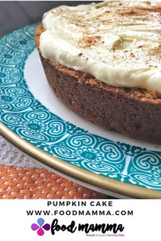 This pumpkin cake with all it's spices is warming and comforting, topped with a luscious cream cheese frosting. Cake With Cream Cheese, Cream Cheese Frosting, Christmas Entertaining, Round Cake Pans, Pumpkin Puree, Icing, Cheesecake, Desserts, Xmas