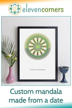 We create a custom mandala that has YOUR choice of hidden date contained within the design. The date is easy to read if you know how. It's a beautiful, unique personalised print new home gift idea or housewarming present. #elevencorners #mandala #personalisedprint #wallart #newhome #housewarming Personalized Retirement Gifts, Personalised Gifts For Him, Personalised Prints, Personalized Wall Art, Personalized Wedding, Geometric Mandala, Geometric Wall Art, Mandala Design, New Home Presents