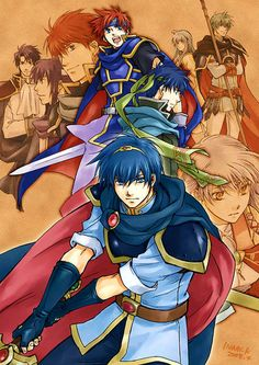 Fire Emblem's Ike & Roy by Inagi. K