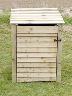 BURLEY 4FT - WOODEN LOG STORE/GARDEN STORAGE WITH DOORS, GREEN, HEAVY DUTY, HAND MADE, PRESSURE TREATED.