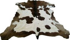 Beautiful COW HIDE RUG Brown White Calf skin by TrendingSlippers
