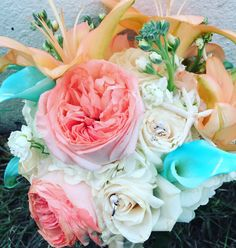 #peonies #lilies #bridlbouquet #roses
