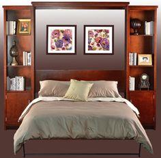 Horizontal Murphy Bed With Desk   Guest Bedroom | Stuart David Furniture