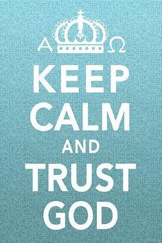 fique calmo, confie em Deus!