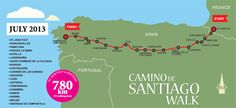 The Camino de Santiago walk, otherwise known as The Way of St James, is a pilgrimage to the cathedral of Santiago de Compostela in Galicia in north-westernmost Spain where the apostle Saint James the Great is said to be laid to rest. The Camino Frances...