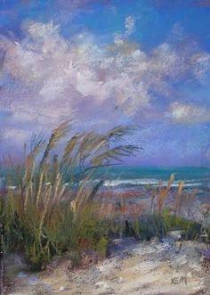 Sanibel Sea Oats, painting by artist Karen Margulis