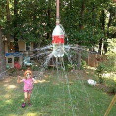 Coke bottle sprinkler