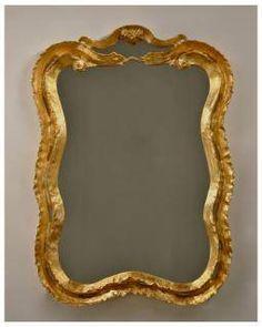 Double #wave antique #gold #mirror #Mecox #interiordesign #MecoxGardens #furniture #shopping #home #decor #design #room #designidea #vintage #garden