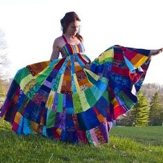 hippie rainbow festival dress    I want one. Right now. by sally tb