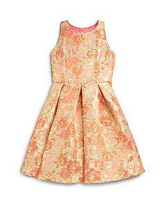 Un Deux Trois Girl's Jacquard Dress