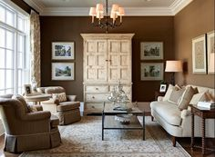Extraordinary Ideas For Painting Living Room Catchy Living Room Design Trend 2017 with Small Living Room Paint Color Ideas – Interior Design Formal Living Rooms, Living Spaces, Living Room Brown, Bedroom Brown, Living Room Designs, Living Room Decor, Dining Room, Design Apartment, Apartment Ideas