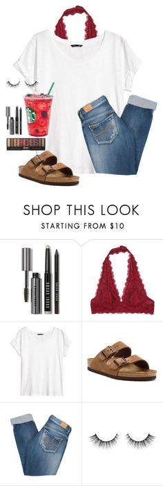 """Just got back from practice"" by madison426 ❤ liked on Polyvore featuring Bobbi Brown Cosmetics, Free People, H&M, Birkenstock and Pepe Jeans London"