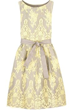 Not big on yellow, but in lace its kinda pretty