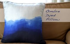 Ombre Dyed Pillow