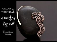 How to Make Coiled Wire Ear Cuff Tutorial Wire Wrapped Earrings, Wire Earrings, Wire Jewelry, Skull Jewelry, Hippie Jewelry, Pearl Earrings, Ear Cuff Tutorial, Wire Weaving Tutorial, Wire Ear Cuffs