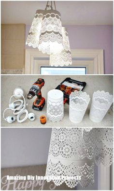 Chandelier DIY – Ikea Hack – 60 idées de lustre DIY faciles à réaliser – The Effective Pictures We Offer You About event planning A quality picture can tell you many things. Diy Hanging Shelves, Floating Shelves Diy, Wall Shelves, Chandelier Design, Diy Chandelier, Diy Hacks, Ikea Hacks, Cool Diy, Easy Diy